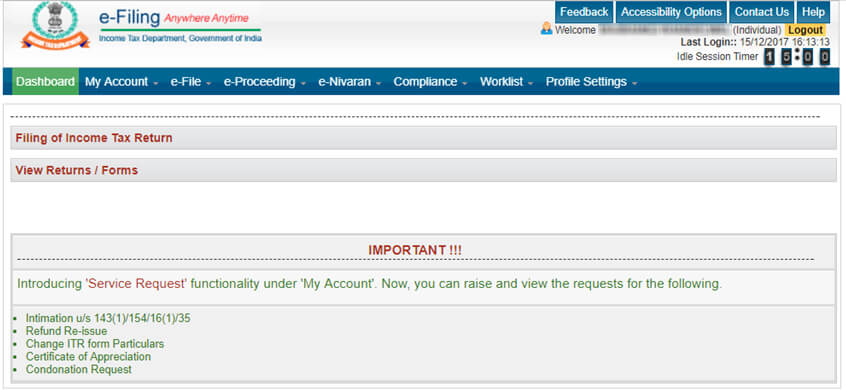 Income Tax e-Filing Website Guide - incometaxindiaefiling gov in