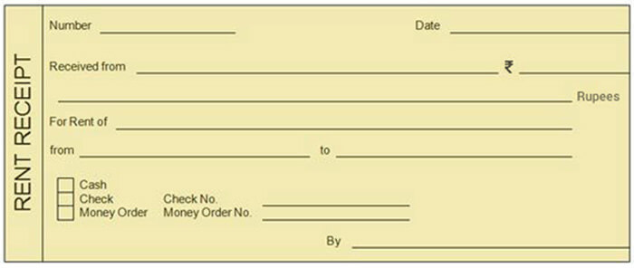 Rent Slip Format:  Format Of Rent Receipt