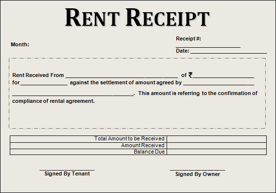 rent receipt format india - Engne.euforic.co