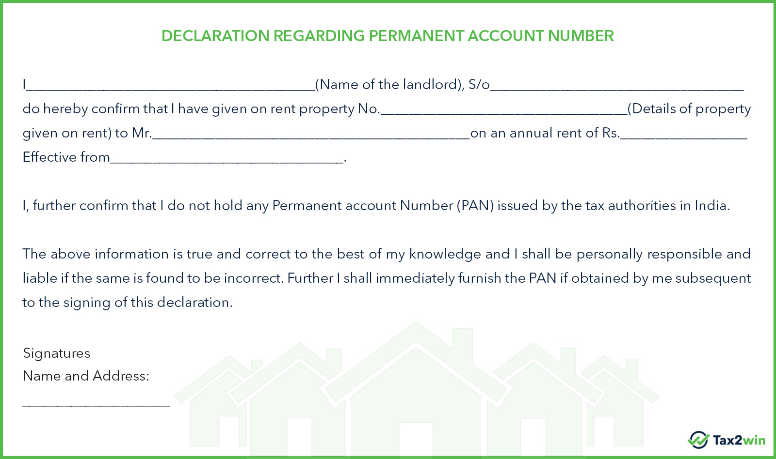 rent receipt generator claim hra save taxes generator declaration regarding pan